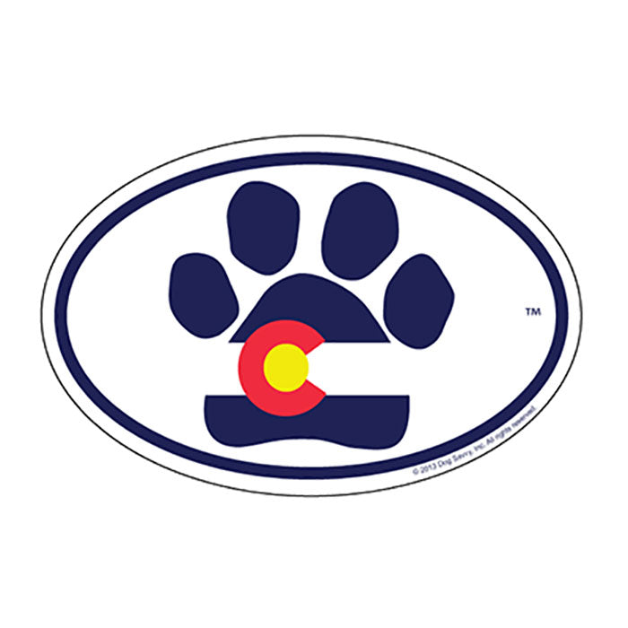CO Paw Oval Magnet