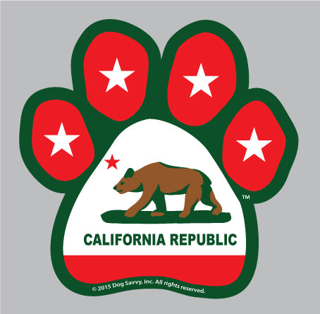 CA Paw Decal