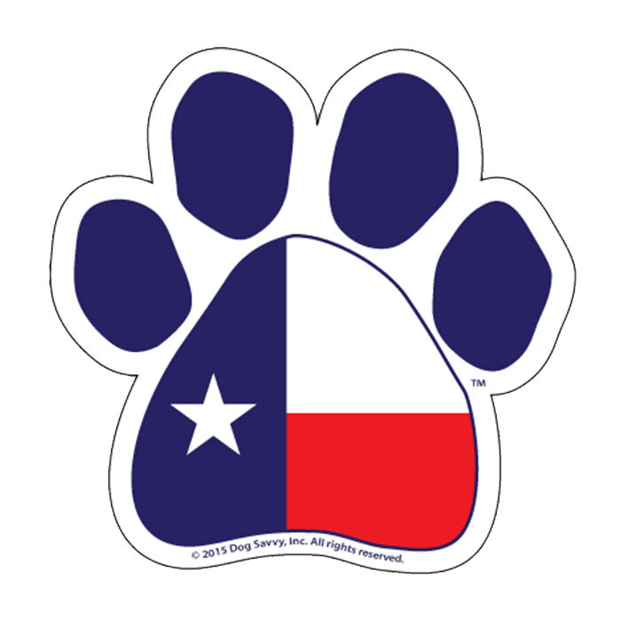 TX Paw Decal