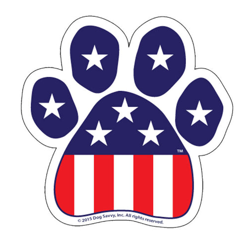 USA Paw Decal