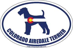 Colorado Breed Sticker Airedale Terrier