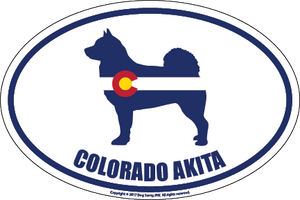 Colorado Breed Sticker Akita