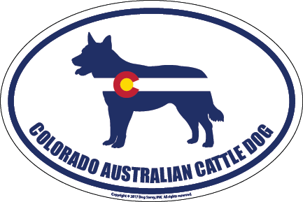 Colorado Breed Sticker Australian Cattle Dog