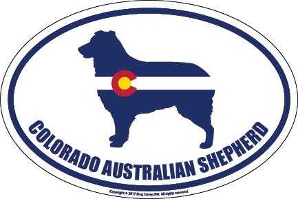 Colorado Breed Sticker Australian Shepherd