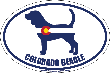 Colorado Breed Sticker Beagle