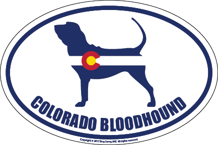 Colorado Breed Sticker Bloodhound