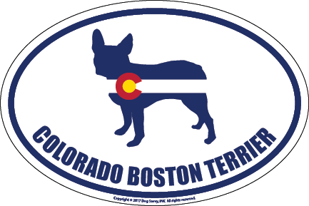Colorado Breed Sticker Boston Terrier
