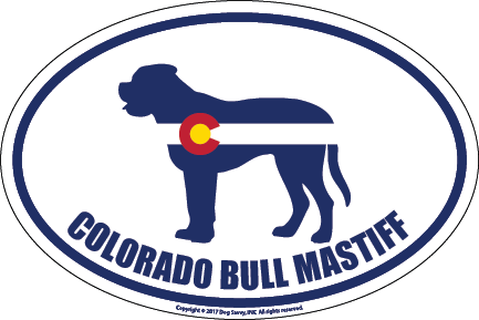 Colorado Breed Sticker Bull Mastiff