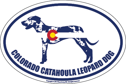 Colorado Breed Sticker Catahoula Leopard Dog