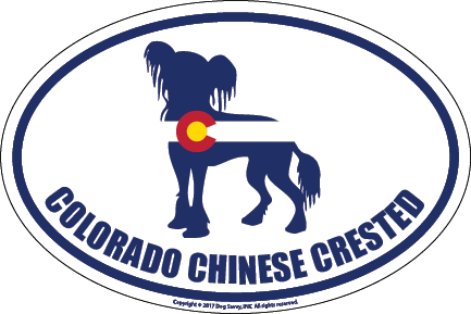 Colorado Breed Sticker Chinese Crested