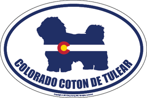Colorado Breed Sticker Coton de Tulear