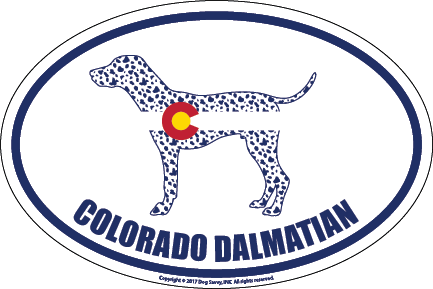 Colorado Breed Sticker Dalmatian