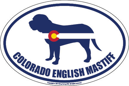 Colorado Breed Sticker English Mastiff