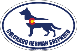 Colorado Breed Sticker German Shepherd