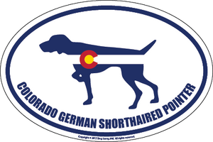 Colorado Breed Sticker German Shorthaired Pointer