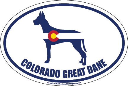 Colorado Breed Sticker Great Dane