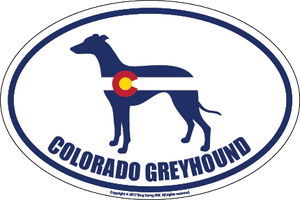 Colorado Breed Sticker Greyhound