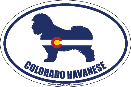 Colorado Breed Sticker Havanese