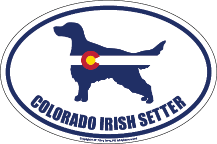 Colorado Breed Sticker Irish Setter