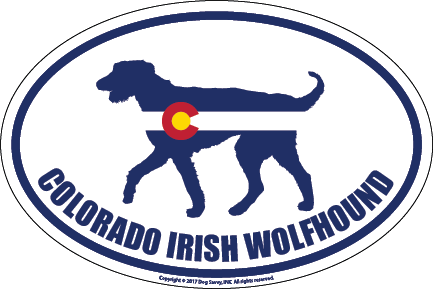 Colorado Breed Sticker Irish Wolfhound