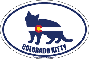 Colorado Breed Sticker Kitty