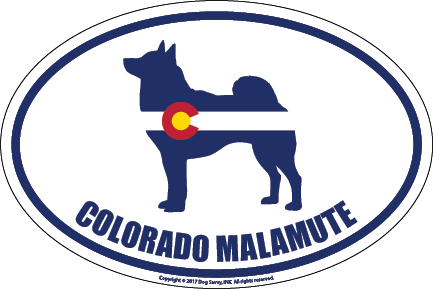 Colorado Breed Sticker Malamute