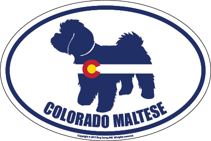 Colorado Breed Sticker Maltese