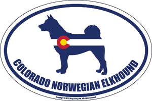 Colorado Breed Sticker Norwegian Elk Hound