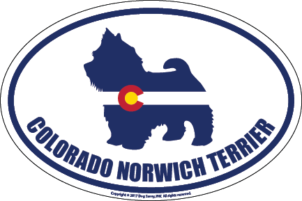 Colorado Breed Sticker Norwich Terrier