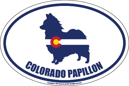 Colorado Breed Sticker Papillon