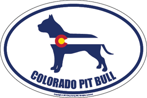 Colorado Breed Sticker Pit Bull