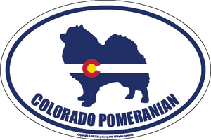Colorado Breed Sticker Pomeranian