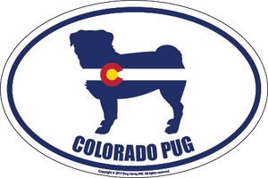 Colorado Breed Sticker Pug