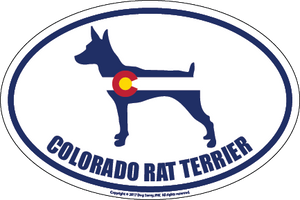 Colorado Breed Sticker Rat Terrier