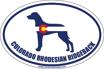 Colorado Breed Sticker Rhodesian Ridgeback