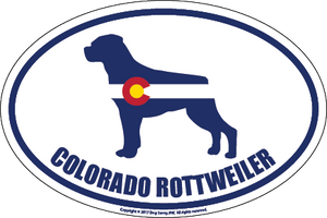 Colorado Breed Sticker Rottweiler