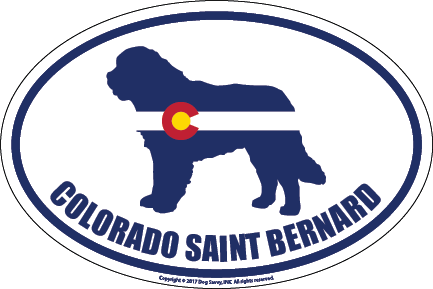 Colorado Breed Sticker Saint Bernard