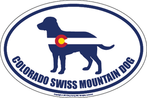 Colorado Breed Sticker Swiss Mountain Dog