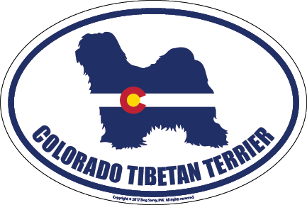 Colorado Breed Sticker Tibetan Terrier