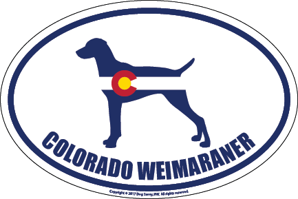 Colorado Breed Sticker Weimaraner