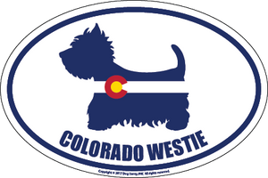 Colorado Breed Sticker Westie