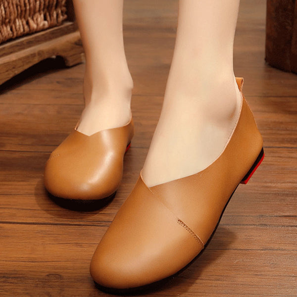 Round Toe Slip-On Women Flats
