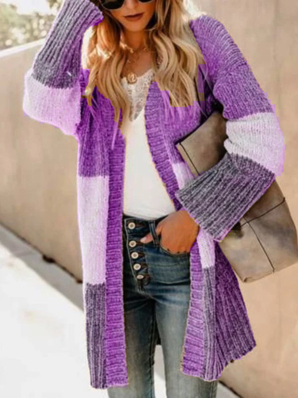 Casual Plus Size Outerwear Cardigan