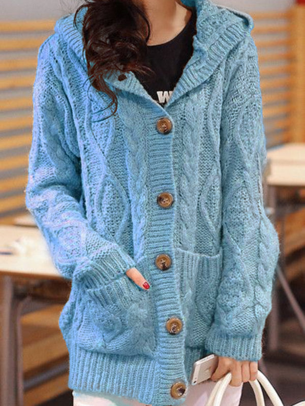 Women Casual Plus Size Hoodie Sweater Cardigan