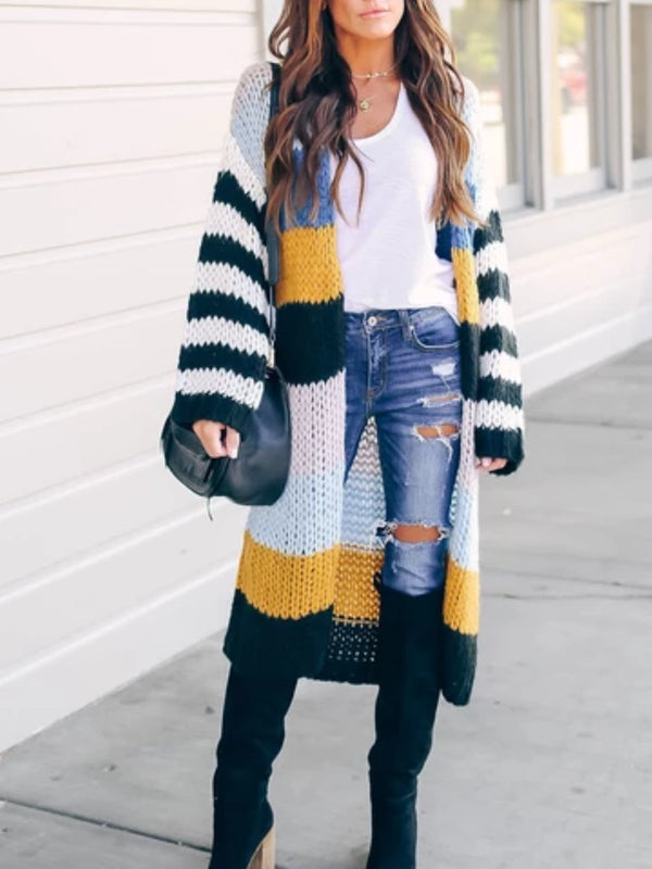 As Picture Holiday Knitted Striped Outerwear