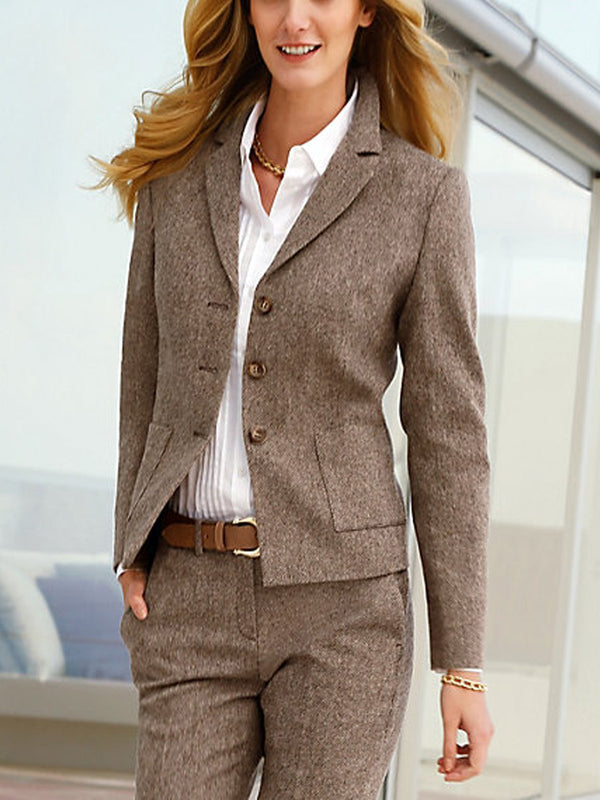 Paneled Long Sleeve Shawl Collar Blazer Outerwear