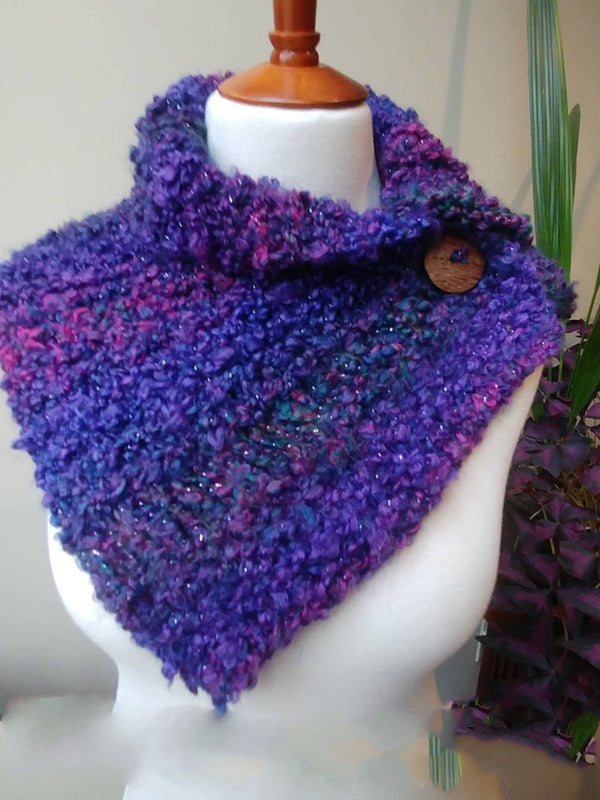 Purple Stripes Casual Cotton Scarves & Shawls