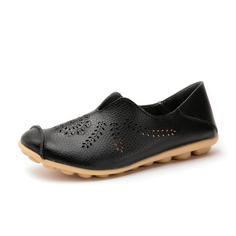 biffany Casual Cowhide Hollow Comfy Loafers