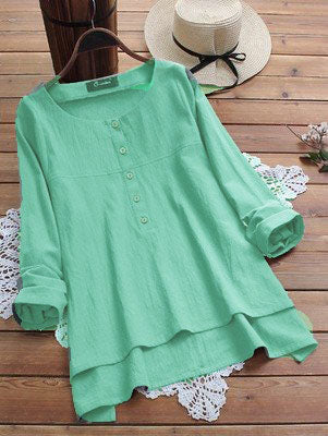 Long Sleeve Crew Neck Blouse