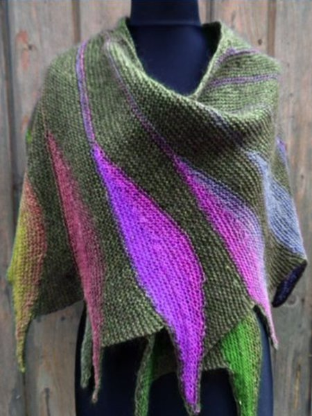 Casual Knitted Color-Block Scarves & Shawls